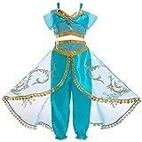 Cozyhoma Jasmin-Kostüm, arabisches Prinzessinnenkleid mit Pailletten, Prinzessinnen-Kostüm,...