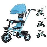 Tricycle 4 In 1 Kinder Dreirad - Kinder Dreirad Fahrrad 1-6 Jahre Alter Kinderwagen, Mit...