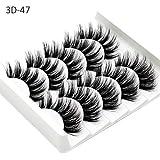 Falsche Wimpern, 5 Paare 3D Wimpern Künstliche Natürliche Schwarz Lange Pure Handgemacht mit...