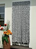 Trvorhang Flauschvorhang Flauschi Chenille 115x230 silberweiss