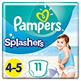 Pampers Größe 4-5 Splashers Baby Windeln, 11 Stück, Schwimmwindeln Mit Doppeltem Beinbündchen