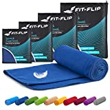 Fit-Flip Microfaser Handtücher Set – 15 Farben, 6 Größen – kompakt & schnelltrocknend –...