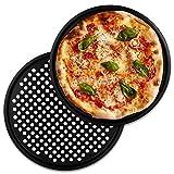 TW24 Alpina Pizzablech rund 33 cm Pizzabackblech Set 2 Stück Pizza Flammkuchen Backblech...