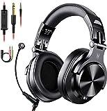OneOdio Kopfhörer mit Mikrofon Headset mit Kabel Wired PC Headphone mit Boom Mic für Handy und PC...