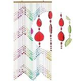 HAB & GUT -DV0193- Türvorhang KLUNKER, Mehrfarbig, 90 x 200 cm Perlenvorhang