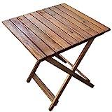 Rustikaler Beistelltisch aus Holz | ideal für Balkon und Camping | Klapptisch platzsparend und...