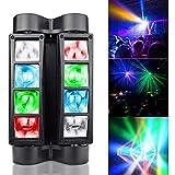 NBVCX WohnaccessoiresMoving Head Light Spider Sound und DMX 512 Control 8 LED...
