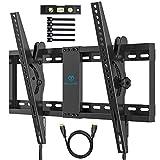 TV Wandhalterung Neigbare Halterung für 37-70 Zoll Flach&Curved Fernseher oder Monitor bis zu 60kg....