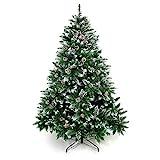 Yorbay Weihnachtsbaum Tannenbaum mit Ständer 120cm-240cm für Weihnachten-Dekoration...