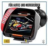 Elebest Rider W4 Navigationsgerät - Motorrad Auto LKW, 4,3 Zoll Display, Halterung, Bluetooth,...