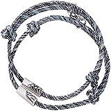 XinLuMing Paar Magnet Armband Set, Gegenseitige Anziehung Seil Geflochtene Charm Anhänger Armband...