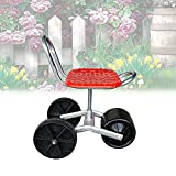 YCRD Portable Gartengeräte,360 °Fahrbarer Gartensitz,DREI Räder,Höhenverstellbar...