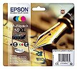 Epson Original 16 Tinte Füller, WF-2630WF WF-2650DWF WF-2660DWF WF-2750DWF WF-2760DWF, (Multipack,...
