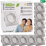 9x Lumare LED Einbaustrahler 4W 400 Lumen IP44 nur 27mm extra flach Einbautiefe LED Leuchtmodul...