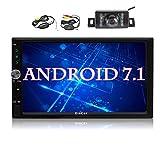 BJYG Doppel-Din-Autoradio, 7-Zoll-Touchscreen im Dash-Autoradio-Empfänger Audio-Video-Player...