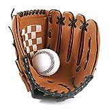ZFLY-JJ Baseball Handschuhe aus PU-Leder Baseball Glove Batting Handschuhe mit Einem Ball Softball...