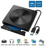 EasyULT Externes DVD Laufwerk, USB 3.0 Typ C Dual Port, Portable Slim CD/DVD-RW Laufwerk Brenner,...