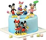 Mickey Mini Figuren Set, NALCY 6 Stück Party Kuchen Dekoration Lieferungen, Minis Figuren Cupcake...