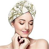Cici-Shop Haarhaube mit Blumenmuster, Bedruckt, Mikrofaser, sehr saugfähig, schnell trocknend,...