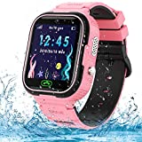 Kinder SmartWatch Phone Smartwatches mit Wasserdicht IP67 SOS Voice Chat Kamera Wecker Digitale...