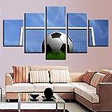 adgkitb canvas Hd Moderne Leinwand Kunst Wandkunst Bild Fußball Dekoration Malerei Fünf Stücke...