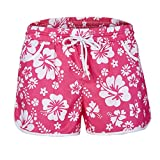 Zarupeng Damen Mehrfarbige Blumendruck Hot Pants Strand-Shorts Elastische Bund Atmungsaktiv...