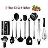 Silikon-Spatel Silikon Küchenutensilien Set Und EIN Halter Edelstahl Silikon Küchenutensilien Set...