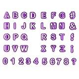 Fliyeong Ausstechformen Zahlen Alphabet Ausstechformen Set Kunststoff Ausstechformen Gateau Marzipan...