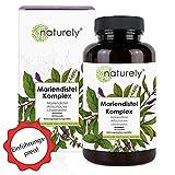 naturely® Mariendistel Premium Komplex - Einführungspreis - 120 Kapseln - Mariendistel (80%...