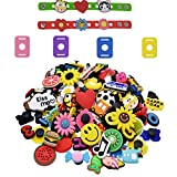 Etern 50 Stück PVC Schuh Charms Karikatur Schuhe Charms, Verschiedene Schuh-Charms Passend mit 4...