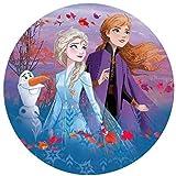 Dekora - 114382 Disney Die Eiskönigin Tortenaufleger aus Esspapier|aus Reispapier| - 20 cm