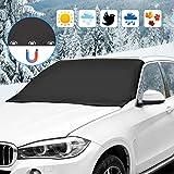 omitium Frontscheibenabdeckung, Autoscheibenabdeckung Magnet Faltbare Sonnenschutz Regenschutz...