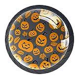 Schrankgriffe Halloween Kürbis Möbelknöpfe Kinder 4er Set Möbelknöpfe Kinderzimmer Set...