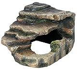 Trixie 76194 Eck-Fels mit Höhle und Plattform, 16 × 12 × 15 cm