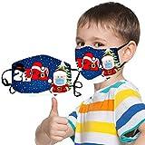 Yowablo 𝙈𝙖𝙨𝙦𝙪𝙚 (1PCS+2 Filterpapier) Kid Cool Mouth Anti-Pollution Waschbares und...