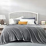 Bedsure Kuscheldecke Grau große Decke Sofa, weiche& warme Fleecedecke als Sofadecke/Couchdecke,...