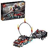 LEGO 42106 Technic Stunt-Show mit Truck und Motorrad mit Rückziehmotor 2-in-1