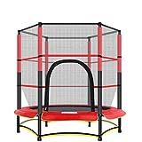 HHOO THS@ Trampolin 55-Zoll-Runde Kids Mini Jump Bungee mit SicherheitsgehäUse -...