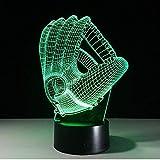 Touch Farbwechsel Led Nachtlicht Stimmungslampe 3D Baseballhandschuh Acryl Schlafzimmer Beleuchtung...