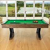 Pinpoint Billardtisch | 7ft Billardtisch mit Billardkugeln, Kreide, Dreieck & Bürste | Tisch...