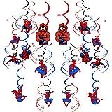 smileh Geburtstag Deko Spiderman Hängen Wirbel Dekorationen Spider Man Geburtstag Wirbel...