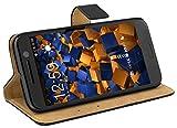mumbi Echt Leder Bookstyle Case kompatibel mit iPhone 7 / 8 Hlle Leder Tasche Case Wallet, schwarz