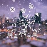 Weihnachten Fensterbilder, Fensterdeko Fensteraufkleber, Weihnachts Dekoration - DIY Schneeflocken...