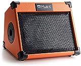 Coolmusic Tragbarer 20-W-Akustikgitarrenverstärker mit Mikrofoneingang, Unterstützung von...