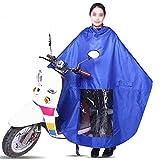 Bryights Regenponcho Elektro Fahrrad Regenmantel Eva Gummi Wasserdichter Poncho Regenmantel Kapuze...