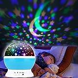 Sternenhimmel Projektor, Projektor Lampe LED Sternenhimmel Projektor Nachtlicht 360 Rotierend...