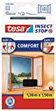 tesa Insect Stop COMFORT Fliegengitter Fenster - Insektenschutz mit Klettband selbstklebend -...