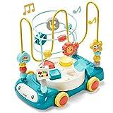 CubicFun Motorikschleife Baby Spielzeug Perlen Labyrinth Motorikwürfel mit Musik und Lichtern für...