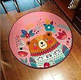 MianBao Teppich Teppich Runden Raum Computer Dekoration Wohnzimmer Schlafzimmer Bereich Stuhl Kinder...