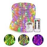 GreenClick 14m 120 LEDs RGB Lichterschlauch 8 Modi Fernbedienbar Led Lichterkette Wasserdicht IP68...